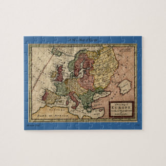 Antiquarian 1721 Map of Europe by Herman Moll Puzzles