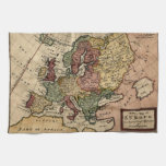 Antiquarian 1721 Map of Europe by Herman Moll Kitchen Towel