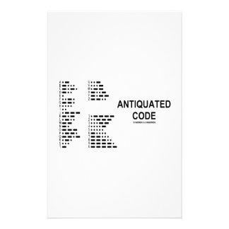 Antiquated Code (International Morse Code) Customised Stationery