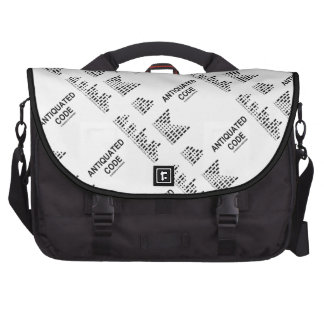 Antiquated Code (International Morse Code) Bags For Laptop