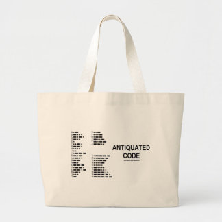 Antiquated Code (International Morse Code) Jumbo Tote Bag