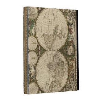 Antique 1660 World Map by Frederick de Wit iPad Folio Case