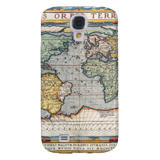 Antique 16th Century World Map Galaxy S4 Cover