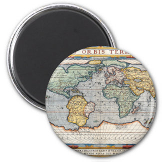 Antique 16th Century World Map Magnets
