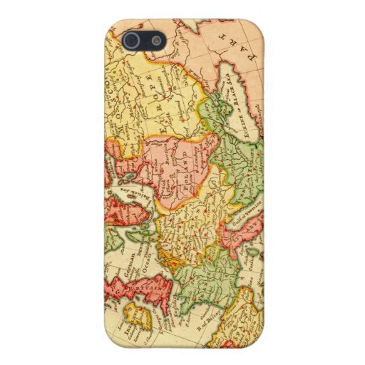 Antique 17th Century Herman Moll Map of Europe Cover For iPhone 5