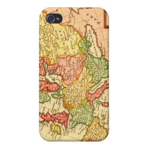 Antique 17th Century Herman Moll Map of Europe iPhone 4/4S Case