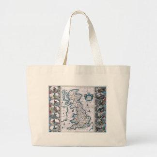 Antique 17th Century Map Canvas Bags