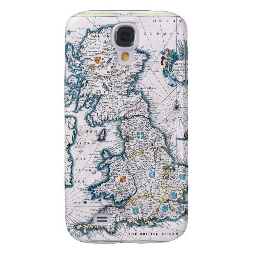 Antique 17th Century Map Samsung Galaxy S4 Cases