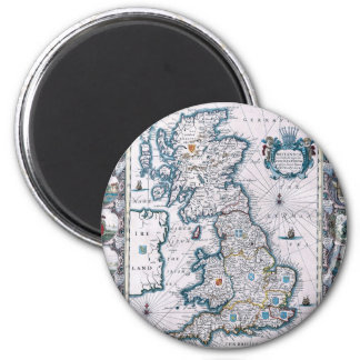 Antique 17th Century Map Refrigerator Magnets