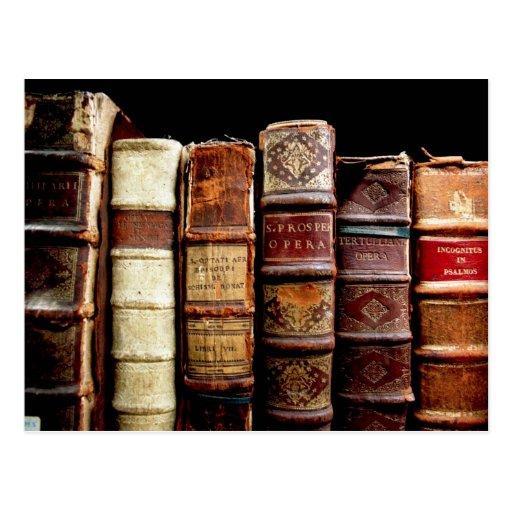 Antique 18th Century Design Leather Binding books Postcards