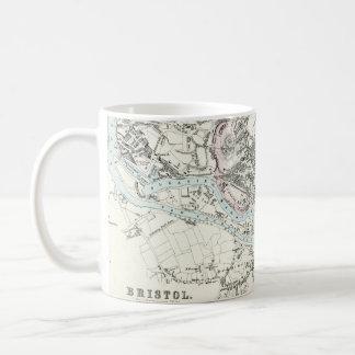 Antique 19th Century Map of Bristol England Coffee Mug
