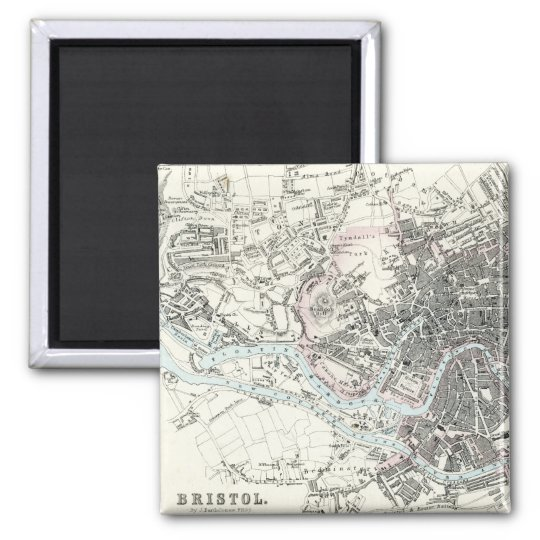 Antique 19th Century Map of Bristol England Magnet