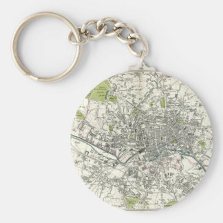 Antique 19th Century Map of Leeds Key Ring