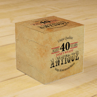 Antique 40th Birthday Design Favour Boxes