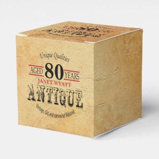 Antique 80th Birthday Design Favour Box