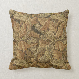 Antique Acanthus Leaves by William Morris Pillow