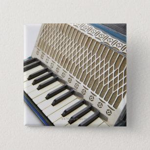 Antique Accordion Keyboard 15 Cm Square Badge