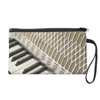 Antique Accordion Keyboard Wristlet