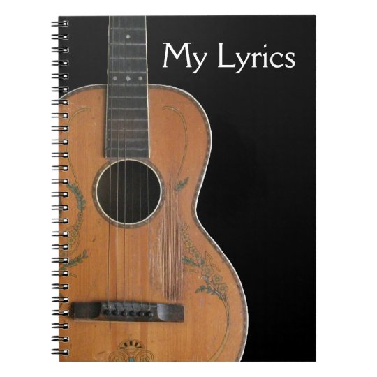 Antique Acoustic Guitar Notebook