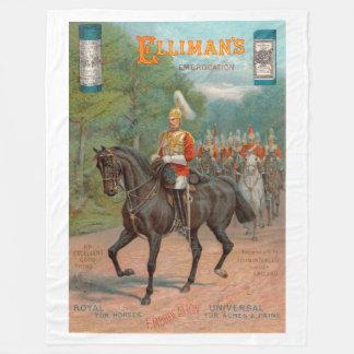 Antique Advert 1899 Ellimans Embrocation Fleece Blanket