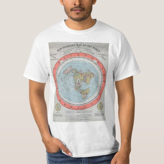 "Antique ""AE"" flat Earth map 1 T-Shirt"