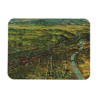 Antique Aerial Map of Los Angeles, California Rectangle Magnet