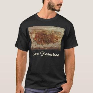 Antique Aerial Map of San Francisco, California T-Shirt