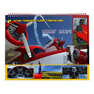 Antique Aircraft Engines Huge 2014 Wall Calendars