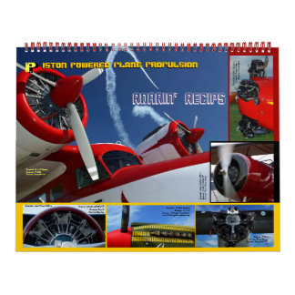 Antique Aircraft Engines Huge 2015 Wall Calendar