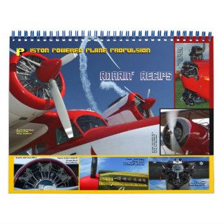 Antique Aircraft Engines standard size 2014 Wall Calendars