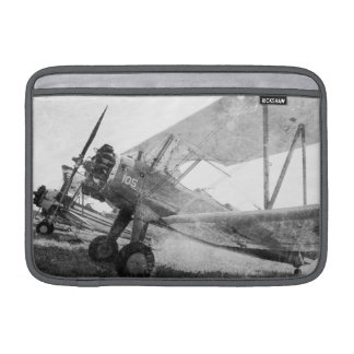 Antique Airplanes Biplane Macbook Air Sleeve