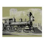 Antique American Locomotive Steam Engine Postcards