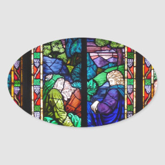 ANTIQUE AMERICAN STAINED GLASS STICKER