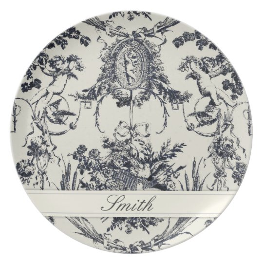 Antique Angel Customisable Plate_Black Plate