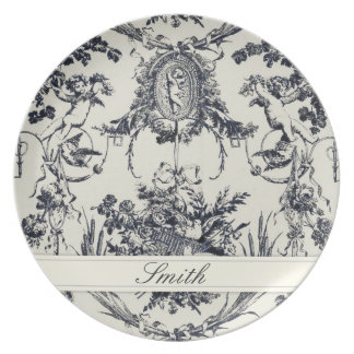 Antique Angel Customizable Plate_Black Plate