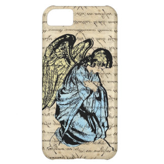 Antique angel illustration on vintage paper iPhone 5C case