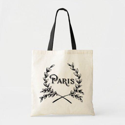 Antique Art Nouveau Paris Wreath Logo Tote Bag