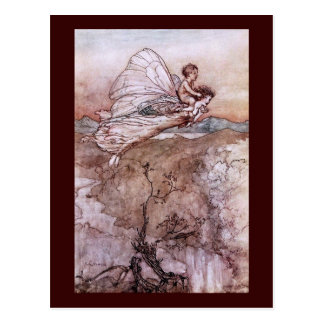 Antique Arthur Rackham Fairy Illustration Postcard