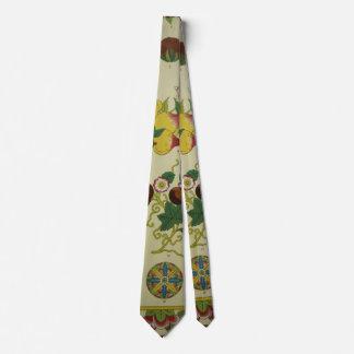Antique Asian Print Necktie