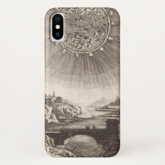 Antique Astronomy Celestial Sky with Sun by Mallet iPhone X Case