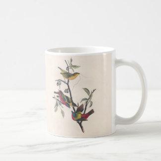 Antique Audubon Painted Bunting Mugs