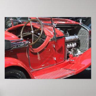 Antique Auto Race Car Poster