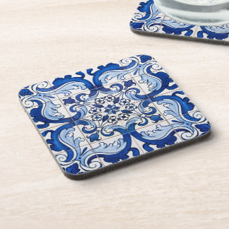 Antique Azulejo Tile Floral Pattern Coaster