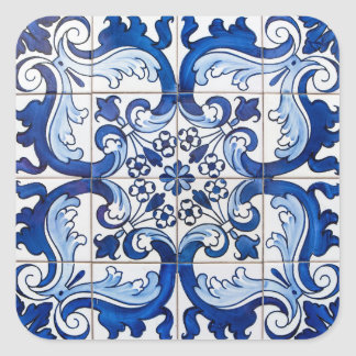 Antique Azulejo Tiles Square Sticker