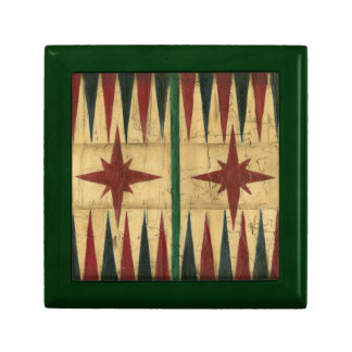 Antique Backgammon Game Board by Ethan Harper Small Square Gift Box