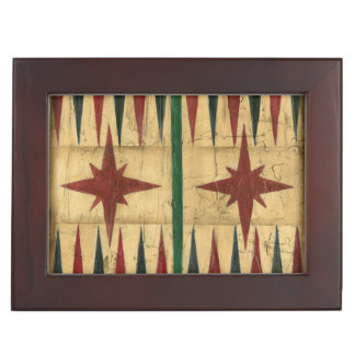 Antique Backgammon Game Board by Ethan Harper Memory Box