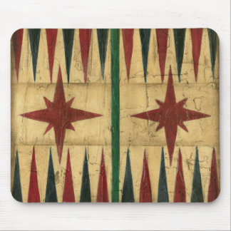 Antique Backgammon Game Board by Ethan Harper Mouse Mat