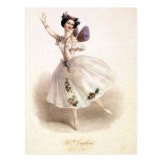 Antique Ballet Ballerina Print Marie Taglioni Postcard