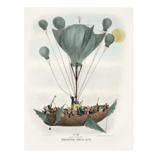Antique Balloon Air Ship Postcard