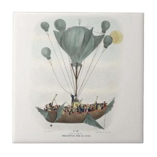 Antique Balloon Air Ship Tile